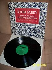 JOHN FAHEY Popular Songs of Christmas and New Year's 1983 Varrick LP VR-012 EXC-