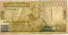 BILLET BANQUE MADAGASCAR 25000 FRS 5000 ARIARY 1993 état voir scan 552