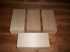 "4 Basswood Lumber Carving Wood Blocks 2""x3""x8"" *KILN DRIED* *ACTUAL SIZE!*"
