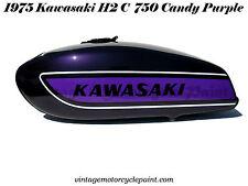 KAWASAKI PAINT 1975 H2 C 750 TRIPLE CANDY PURPLE RESTORATION PAINT BEST