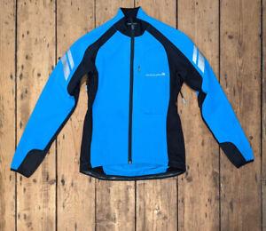 Womens ENDURA Windchill II Cycling Jacket Size Small Blue