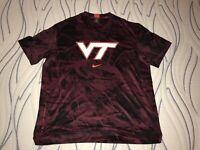 New Men's Nike Virginia Tech Hokies Basketball Spotlight Shooting Shirt 2XL