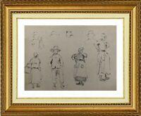 CHARLES WISLIN (1852-1932) SCENE RURALE A CERNAY-LA-VILLE EN 1872 (683)