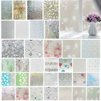 Waterproof Frosted Bathroom Window Glass Self-Adhesive Film Privacy Home Sticker