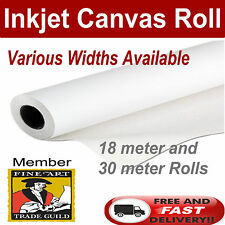 "Polyester Matt 220 GSM - Wide format Inkjet digital Printer Canvas Roll 13""x18m"