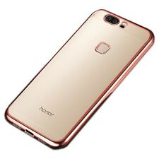 Premium Funda Protectora TPU Fucsia para Huawei Honor 8 Contraportada De Funda