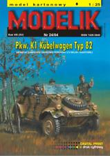 Volkswagen Kübelwagen Type82 military vehicle 1:25 paper model kit 15cm long