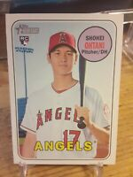 2018 Topps Heritage High Number Error variation Shohei Ohtani rookie #600