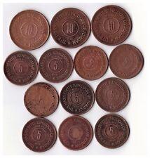13 Jordan coin collection 10 Fils 1955x2, 7x5 fils 1962,2x5 Fils 1955 +others #6