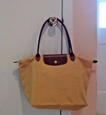NWOT Women's Le Pliage Longchamp Folding Nylon Large Tote Bag Curry/Yellow Color
