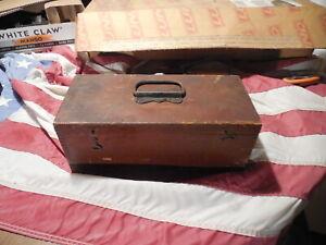 Antique Brass Keuffel & Esser Surveyor's Transit with Wooden Case