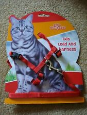 Pet Buddies Red Cat Lead and Harness - New