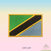 Tanzania National Flag Embroidered Iron On Patch Sew On Badge Applique