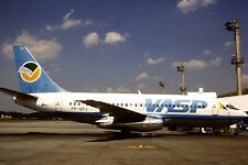 Original 35mm Colour Slide of VASP Boeing 737-2M9 PP-SPJ