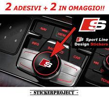 Adesivi MMI AUDI Stickers A1 A3 A4 A6 Q5 R8 S1 S2 S3 S4 S5 S6 Sline Autoradio