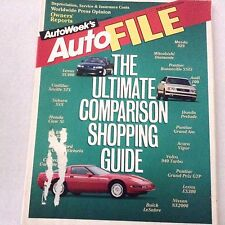 AutoWeek Magazine Ultimate Comparison Shopping Guide 1993 Autofile 061417nonrh2
