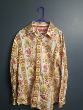 Enyce clothing floral bright Men's XL Vintage 1996 Red Orange Yellow Long Sleeve