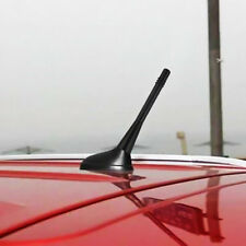 Black Car Auto Short Stubby Antenna Aerial AM/FM Radio Mast + 2 Styles Screw