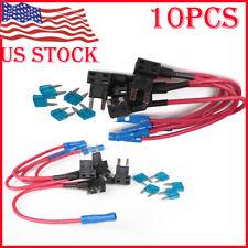 New listing 10* 15A Add Circuit Mini Blade Fuse Boxe Holder Acs Ato Atc Piggy Back Tap Us