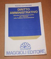 LIBRO DIRITTO AMMINISTRATIVO MANUALE CONCORSI SANTOSUOSSO MAGGIOLI 1987