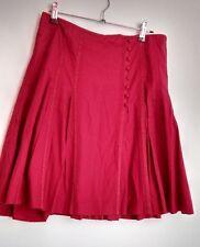 Designer TED BAKER Skirt size 8 Red --BRAND NEW-- Stunnig flared party everyday