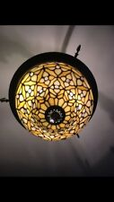 Handcrafted Tiffany Ceiling Lamp classic design  Home Decor Stained Glass Shade