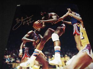"Bob Lanier Detroit Pistons Signed 16x20 Photo PSA ""HOF 92"""