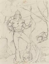 SIGNED BY BARRY WINDSOR SMITH - ORIGINAL CONAN THE BARBARIAN PENCIL DRAWING Comic Art
