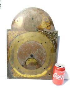 18thC RICHARD THOMAS GELLYDEG Pembrokeshire Brass Clock Dial ONLY Robbed