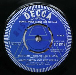 """BOBBY CRISTO The Other Side Of The Track DEMO 7"""" Joe Meek RGM F 11913 NMINT 64"""
