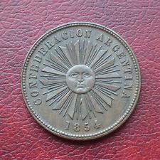 More details for argentina 1854 copper 4 centavos