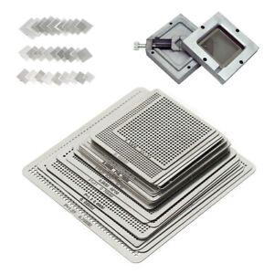 27Pcs BGA Reball Reballing Rework Net Universal Stencils Directly Heat Set Kit !