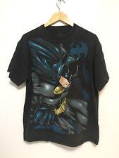 Mens Sz L Batman All over Big Print T-Shirt Vintage Comics DC preowned