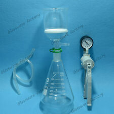 1000ml,Suction Filtration Unit,Buchner Funnel,1L Erlenmeyer Flask & Vacuum Pump