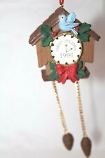 Midwest of Cannon Falls 1994 Happy Holidays Cuckoo Clock Christmas Tree Ornament