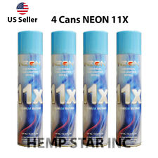 4 Cans Neon Butane Gas 300ml 11x Refined Filtered Lighter Refill Fuel