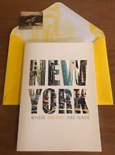 Papyrus Blank Note Ny Greeting Card Gold Sticker New York Where Dreams Are Made