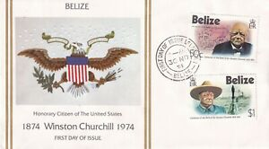 BELIZE 30 NOVEMBER 1974 WINSTON CHURCHILL CENTENARY UNADDRESSED FIRST DAY COVER