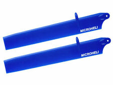 MICROHELI MH-130X303BL BULLET PLASTIC MAIN BLADE 135MM BLUE - BRAND NEW