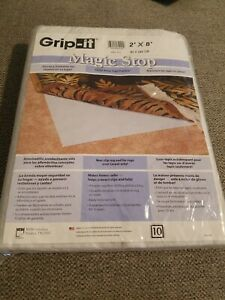 Grip-It Magic Stop 2'x8' Non-Slip rug pad Over Carpet NEW sealed