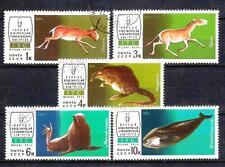 Animaux Faune sauvage Russie (141) série complète 5 timbres oblitérés