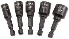 DEWALT Magnetic 5 Piece Nut Driver Impact Driver Hex Shank 1/4'' to 1/2'' Set