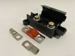 Midi Fuse Holder +50A Amp + 2x 10mm2 Lugs suits REDARC / CTEK Dual Battery 8b&s