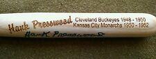 HANK PRESSWOOD Negro League KANSAS CITY MONARCHS Autographed Mini Bat