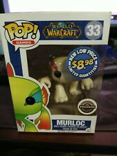 Funko Pop Games WHITE MURLOC #33 World of Warcraft GameStop Exclusive