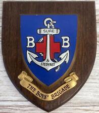 More details for vintage boys brigade crest shield plaque