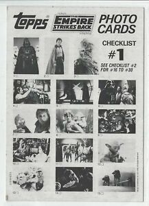 Star Wars ESB 30 GIANT PHOTO Complete Card Set + Wrapper - Topps 1980