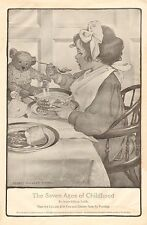 J. W. Smith, The Seven Ages Of Childhood, Teddy Bear, Vintage 1909 Antique Print