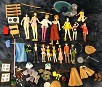 Japanese 15 Pvc Figure Lot Accessories Sword Beer Collection Anime Girls Vintage
