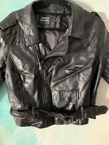 Croc Pvc Leather Jacket Womens